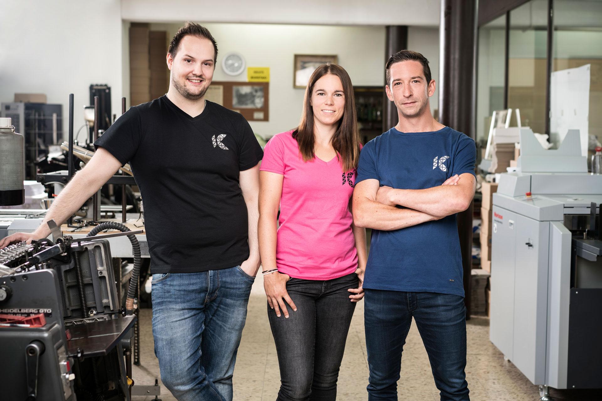 Das Team von Konzept Druck und Design